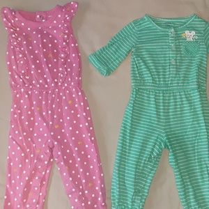 2 Carter's Jumpsuits